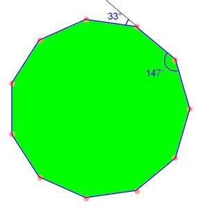 Measure Of One Interior Angle Of A Regular Hexagon Hendecagon 11 Sided Polygon Math Tutorvista Com