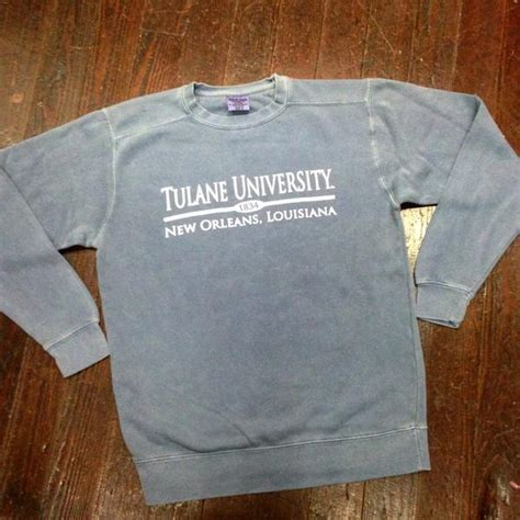comfort colors blue jean tulane comfort colors crewneck sweatshirt blue jean