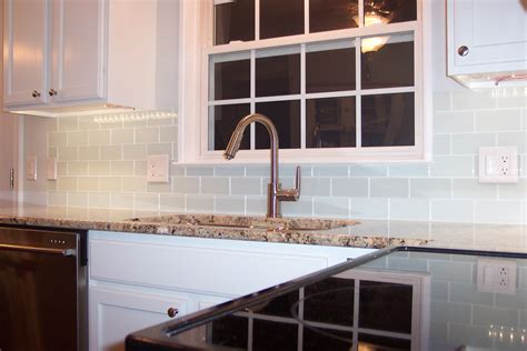 White Subway Tile Kitchen Backsplash Glass Subway Tile Projects Before Amp After Pictures