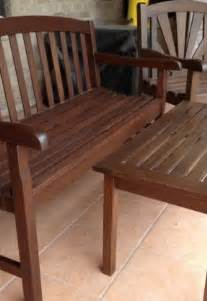 Stain Teak Patio Furniture by Teak Outdoor Benches Foter