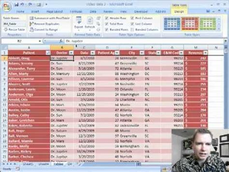 c design pattern with exles excel video 42 table design tools youtube