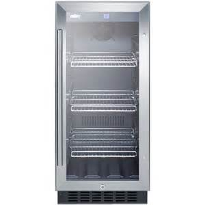 Spirits Cabinet Summit Scr1536bg Beverage Refrigerator Black Stainless
