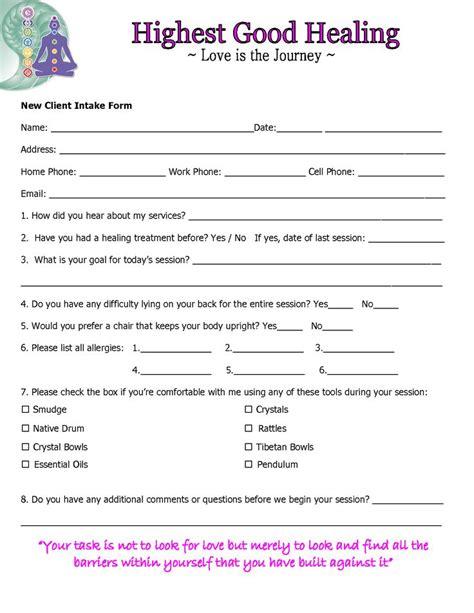 client intake form template 17 idee su reiki quotes su meditazione