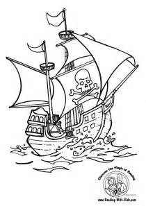 pirate ship coloring page and coloring pages