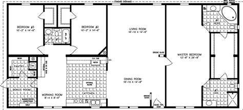 Floor Plans 2000 Sq Ft by 2000 Sq Ft Floor Plans The Tnr 4687w Manufactured Home
