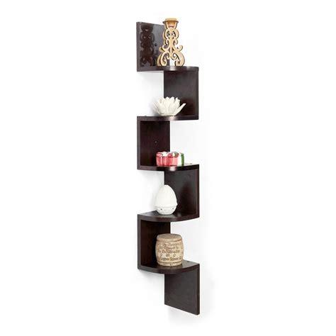 amazon buy forzza vincent corner wall shelf wenge for