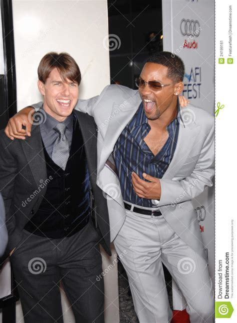 Tom Cruise Gives Will Smith An Award by Tom Cruise Will Smith Editorial Photo Image Of