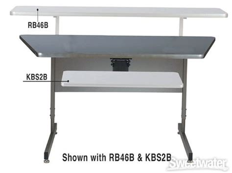 Raxxess Acd 30 45b Ebony Sweetwater Com Raxxess Studio Desk