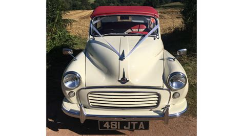 Wedding Cars Usk by Classic Morris Minor Convertible Wedding Car Hire In Usk