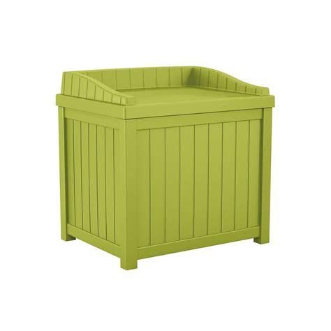 Small Storage Seat Suncast 22 Gal Green Small Storage Seat Deck Box Shop