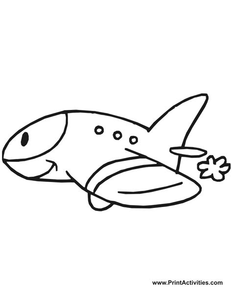 a jet coloring pages