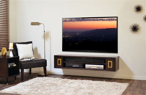 floating media console    display  tv