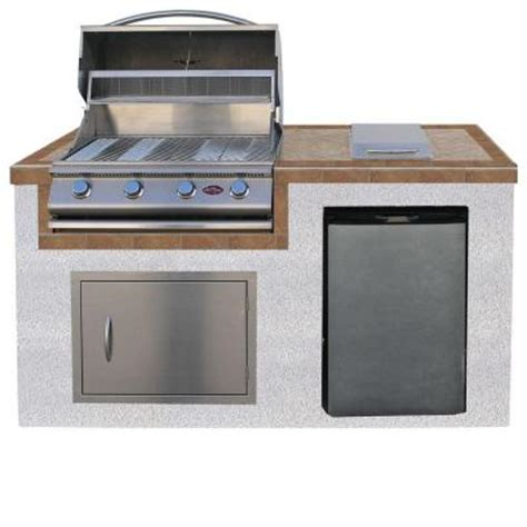 home depot outdoor kitchens cal 6 ft pavilion outdoor kitchen island with 4