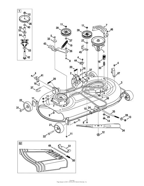 mtd mower deck diagram mtd 13ar91ps299 247 28672 2010 pyt9000 13ar91ps299