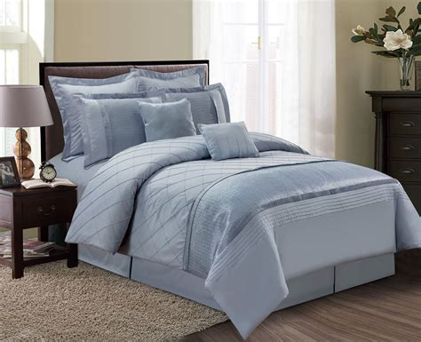 dust in bedroom 12 piece fiona dust blue bed in a bag set