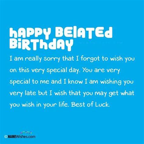 I Wish You Happy Birthday Belated Birthday Wishes Page 13 Nicewishes Com