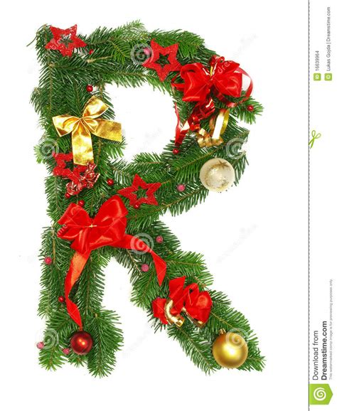 christmas alphabet letter r stock photo image of gift