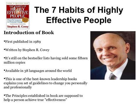 The 7 Habits Of Highly The 7 Habits Of Highly Effective