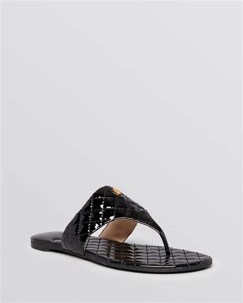 burch black sandal burch flat sandals kent quilted in black lyst
