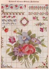 sentimental baby free vintage colored cross stitch pattern