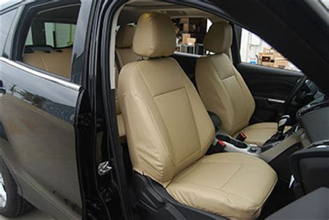 ford escape leather seat replacement ford escape 2013 2014 leather like custom seat cover ebay