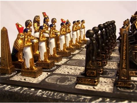 ancient chess set beautifully crafted new egyptian chess set travelling