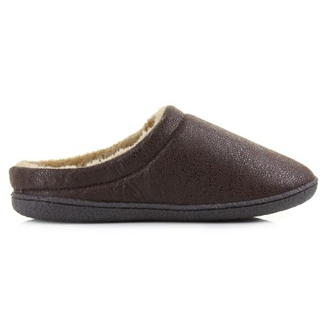 slip on slippers for mens comfortable fur warm indoor soft classic slip on