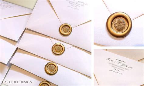 wedding invitation wax seal rococo invitation design luxury wedding invitations los angeles new york carciofi design