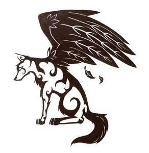 winged wolf tattoo design by twodeeweaver on deviantart