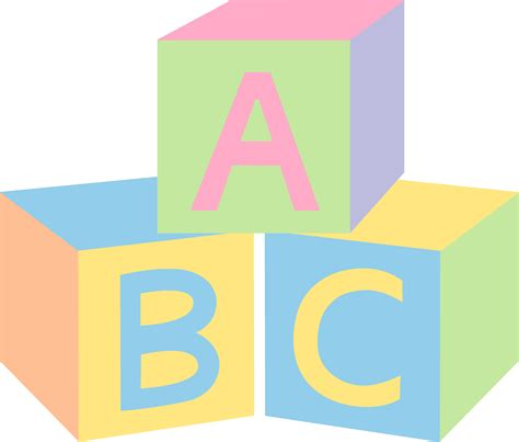 Baby Blocks Clipart pastel abc baby blocks free clip