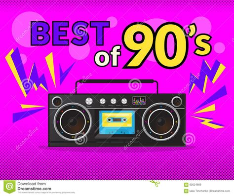 best 90s best of 90s stock vector image 60024809
