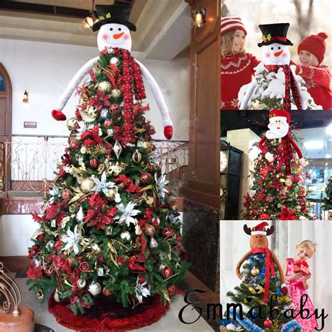 how to make a snowman tree hugger snowman tree hugger topper top of the tree decoration home decor ebay