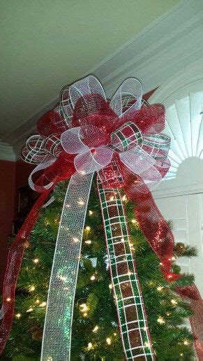 deco mesh bow christmas tree topper wreaths i have made