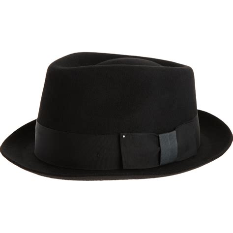 paul smith trilby hat in black for lyst