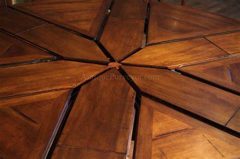 round walnut round dining with hidden leaves solid walnut