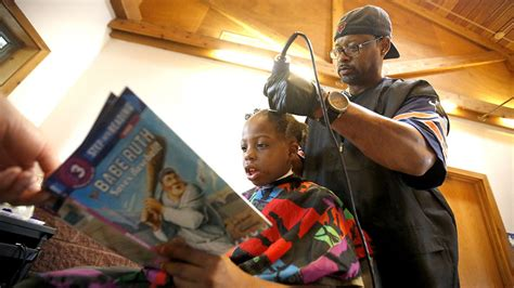 black hairstyles books for free this barber gives free haircuts to children who read to