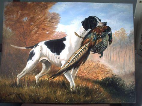 cuadros de caza perro cazando herminia herrera carballar artelista
