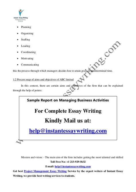 Instant Essay Writer by Instant Essay Writer Sle Report On Marketing Management By Instant Essay Writing Sle