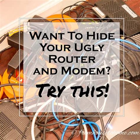 cabinet for router and modem how to hide your router and modem