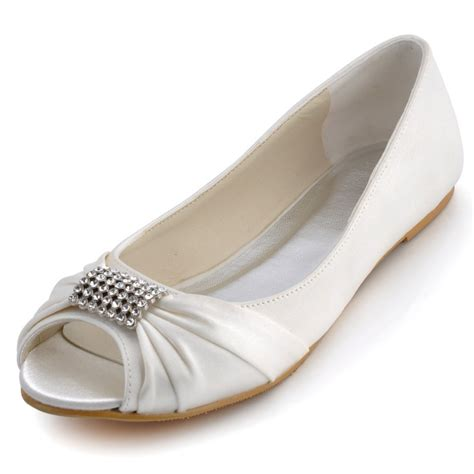 Comfortable Wedding Flats For by Ep2053 White Ivory Formal Comfortable Bridal