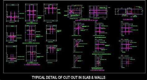 Building Floor Plan Software Typical Structure Reinforcement Slab Wall Cutout Detail