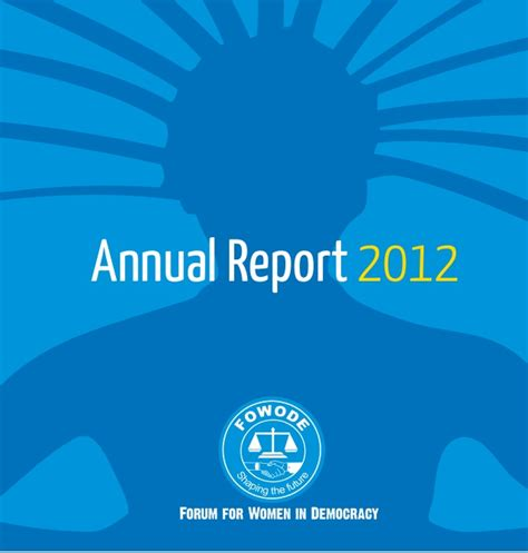 2012 Annual Report by Fowode Annual Report 2012