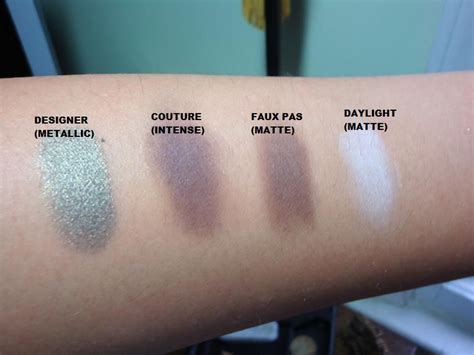 lancome color design eyeshadow swatches lancome color design in couture reviews photos