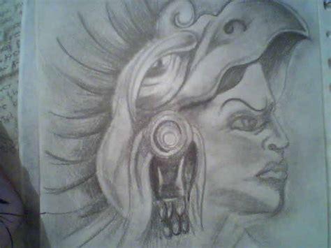imagenes aztecas graffiti dibujos a lapiz de guerreros aztecas graffiti imagen by
