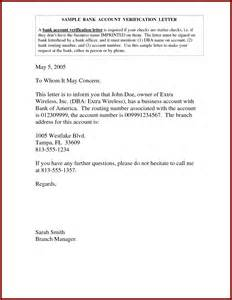 Bank Verification Letter From Bank Of America Sle Letter For Verification Of Payment How To 46