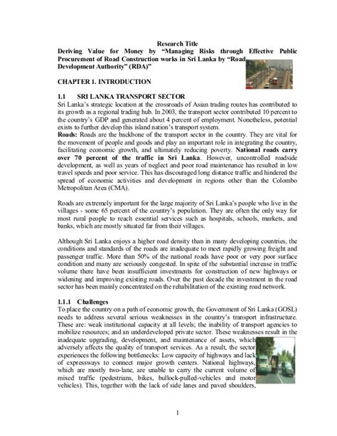 Road In Sri Lanka Essay by Text Msc