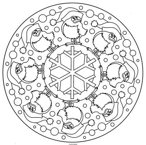 free coloring pages of mandala navidad