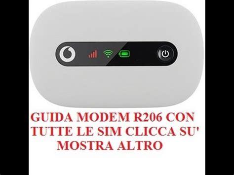 tim mobile wifi guida modem mobile wi fi r206 con tutte le sim vodafone