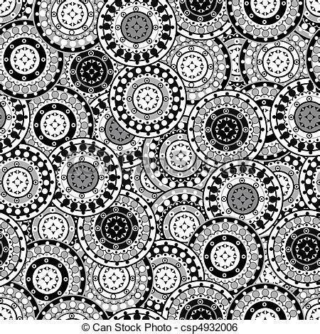 Kaos Islamic Artworks 12 stock illustration of seamless pattern with black and