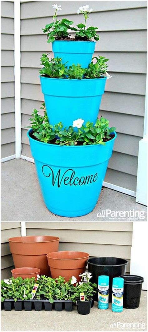 Diy Flower Tower Planter by 25 Best Ideas About Flower Pot Tower On